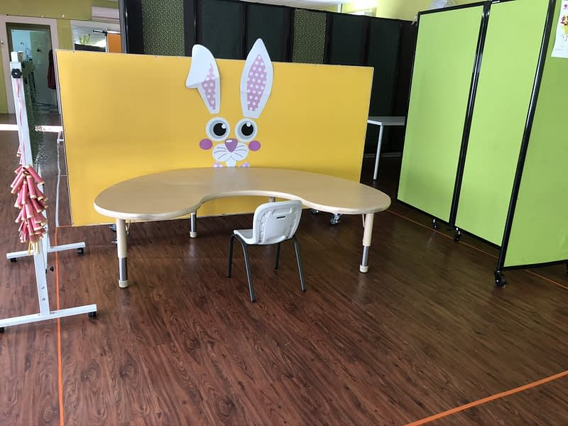 empty table and space for kids in afterschool program