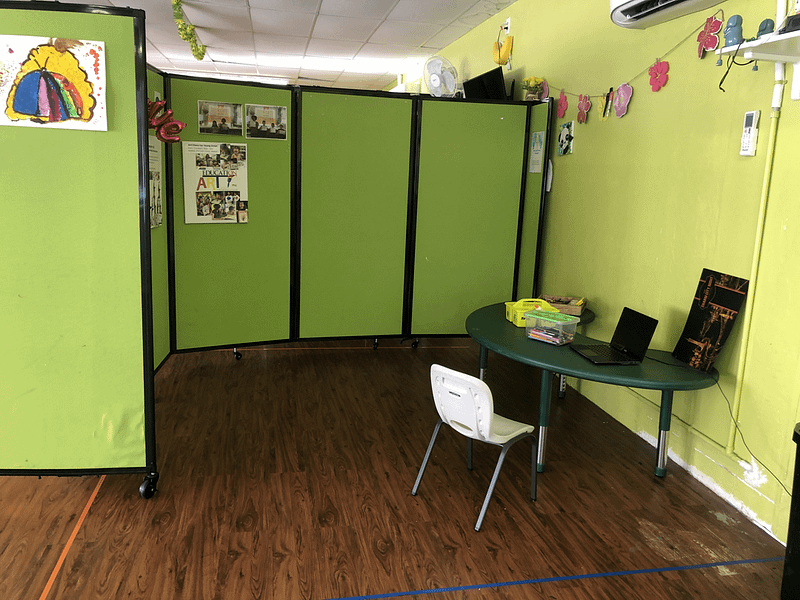 empty area for a child's learning
